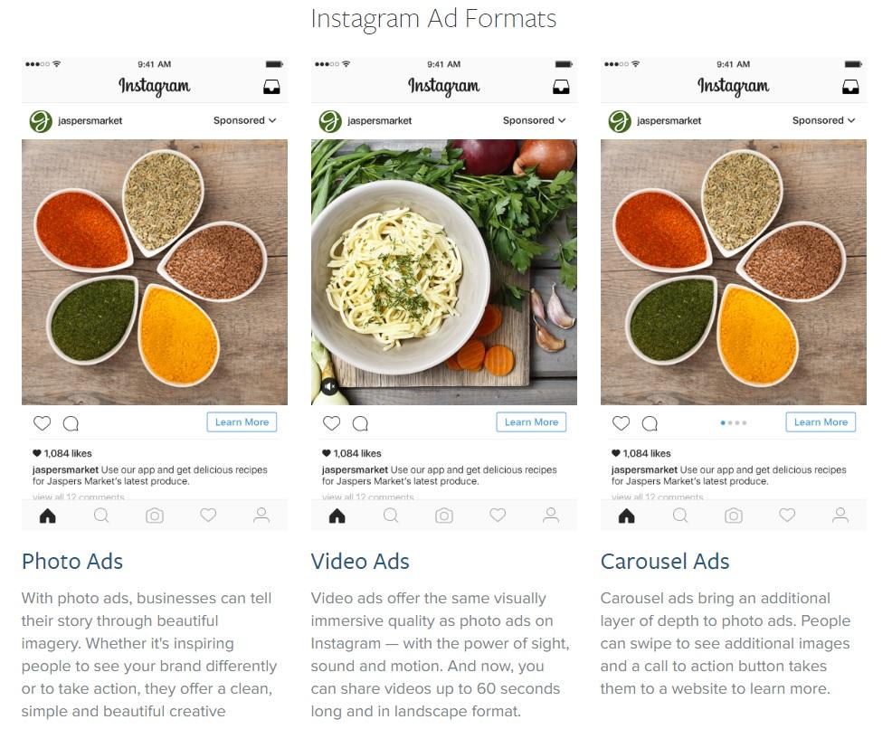 Upute za instagram oglas