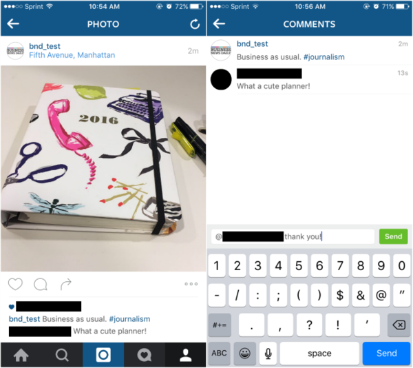 Primjer instagram oglasa