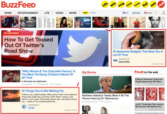 Nativno oglašavanje Buzzfeed